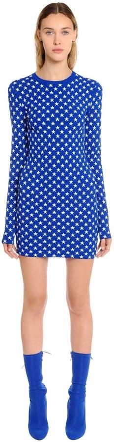 Givenchy Star Jacquard Knit Dress