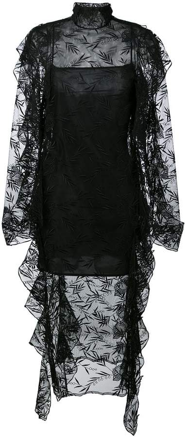 Christopher Kane long sleeve lace teeth dress
