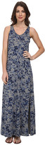 DKNY Star Floral Printed Maxi Dress