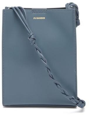 Jil Sander Tangle Small Braided-strap Leather Shoulder Bag - Grey