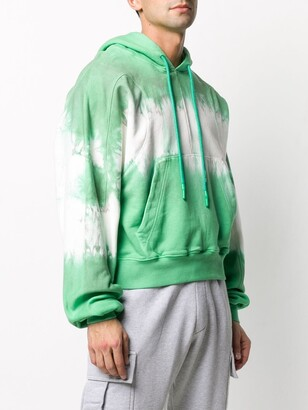 Off White Tie Dye Effect Hoodie