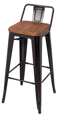 "Williston Forge Oliverio Metal Low Back 30"" Bar Stool (Set of 4"