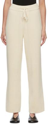LE 17 SEPTEMBRE LE17SEPTEMBRE Off-White Knit Lounge Pants