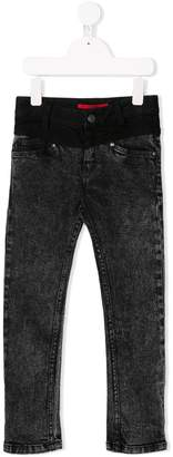 Givenchy Kids contrast panel slim jeans