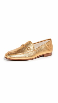 Sam Edelman Women's Loraine Loafer Exotic Gold/Metallic Leather 7.5 M US