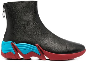 Raf Simons Contrast-Sole Boots