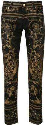 Dolce & Gabbana Floral Print Skinny Jeans