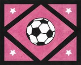 JoJo Designs Girls Soccer Accent Floor Rug by Sweet