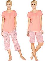 Carole Hochman Dogwood Floral & Dot 3-PiecePajama Set