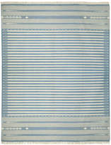 OKA Sanskrit Striped Cotton Dhurrie Rug, Large