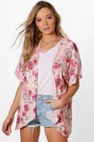 boohoo Kate Floral Print Kimono