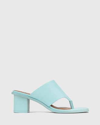 Wittner - Women's Blue Sandals - Johnson Leather Block Heel Sandals - Size One Size, 38 at The Iconic