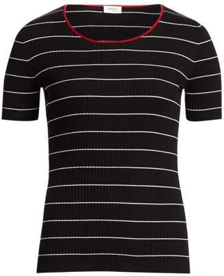 Akris Punto Striped Rib-Knit Tee