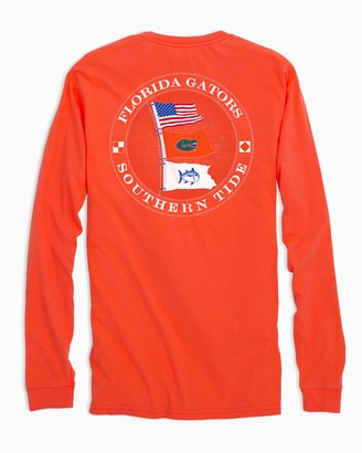 Southern Tide Florida Gators Flags Long Sleeve T-Shirt