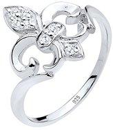 Elli 0606721213 _54 Women's Ring 925 Sterling Silver / White Zirconia Crystal 0611292913 white
