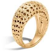 John Hardy 18K Yellow Gold Classic Chain Dome Ring