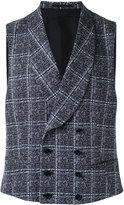 Z Zegna checked waistcoat - men - Cotton - 54