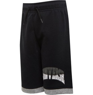 Converse Junior Boys Asymmetrical Colourblock Shorts Black