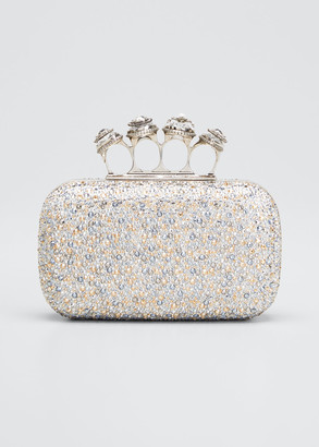 Alexander McQueen Spider Jeweled Four-Ring Clutch Bag