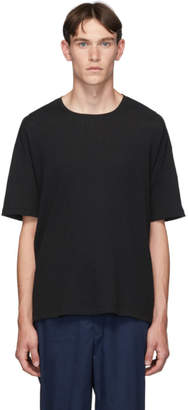 Issey Miyake Black Tuck Jersey T-Shirt