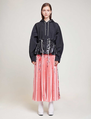 Givenchy Panelled hooded shell jacket