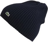 Lacoste Men's Rib Knit Wool Beanie - Black