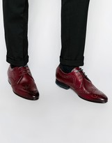Ted Baker Vineey Leather Brogue Shoes - Brown