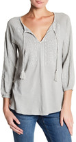 Lucky Brand Washed Peasant Blouse