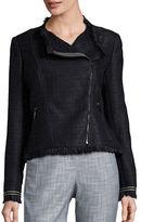 Eliza J Tweed Moto Jacket