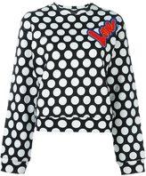 Love Moschino polka dot print sweatshirt