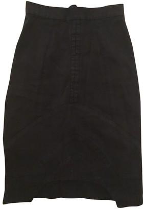 Preen Black Cotton Skirt for Women