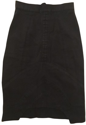 Preen Black Cotton Skirts