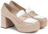 Prada Patent leather platform loafers