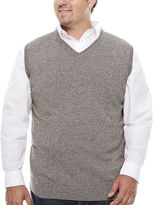 THE FOUNDRY SUPPLY CO. The Foundry Big & Tall Supply Co. V Neck Cotton Sweater Vest Big and Tall