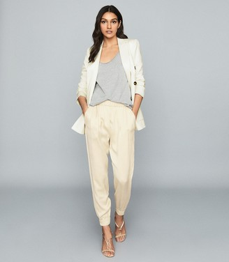 Reiss Sofie - Zipper Cuff Jogger in Neutral