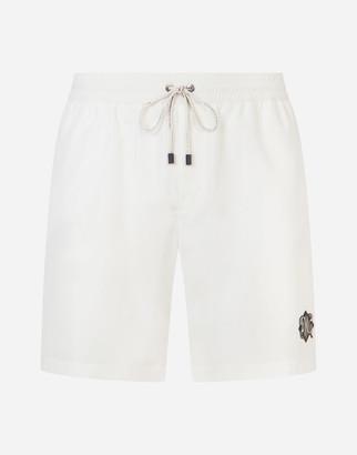 Dolce & Gabbana Mid-Length Swim Trunks With Patch
