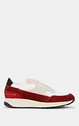 Common Projects Men's Track Classic Suede & Mesh Sneakers - Red