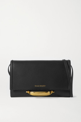 Alexander McQueen The Story Leather Shoulder Bag - Black