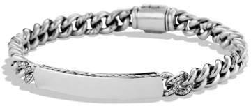 David Yurman Petite Pavé Curb Link ID Bracelet with Diamonds