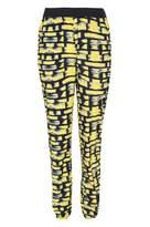 Select Fashion Fashion Womens Yellow Brush Stroke Jogger - size 10