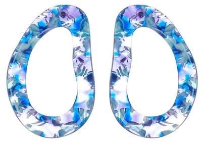 BaubleBar Resin Hoop Drop Earrings
