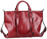 OULINBEIN Women's And Gril's Cow Leather Tote Handbag Satchel Satchels Shoulder Bags Hobo