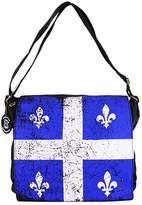 Robin Ruth Canada Mens Multi-Purpose and Navy Quebec Flag Messenger Laptop Tote Bag