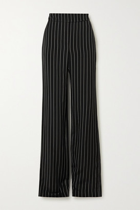 Alexandre Vauthier Pinstriped Twill Wide-leg Pants - Black