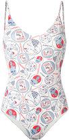 Roseanna Kykonos print swimsuit - women - Polyamide/Spandex/Elastane - 36