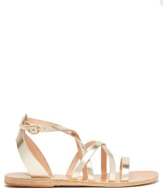 Ancient Greek Sandals Delia Leather Sandals - Womens - Gold