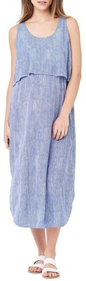 Ripe Stella Stripe Nursing Dress Royal