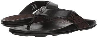 OluKai Kulia (Black/Black) Men's Sandals