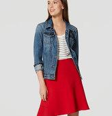 LOFT Tall Seamed Flippy Skirt