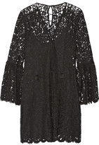 Rachel Zoe Megali Corded Lace Mini Dress - Black